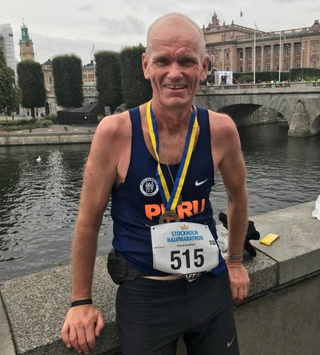 Gunnar after Stockholm Half Marathon